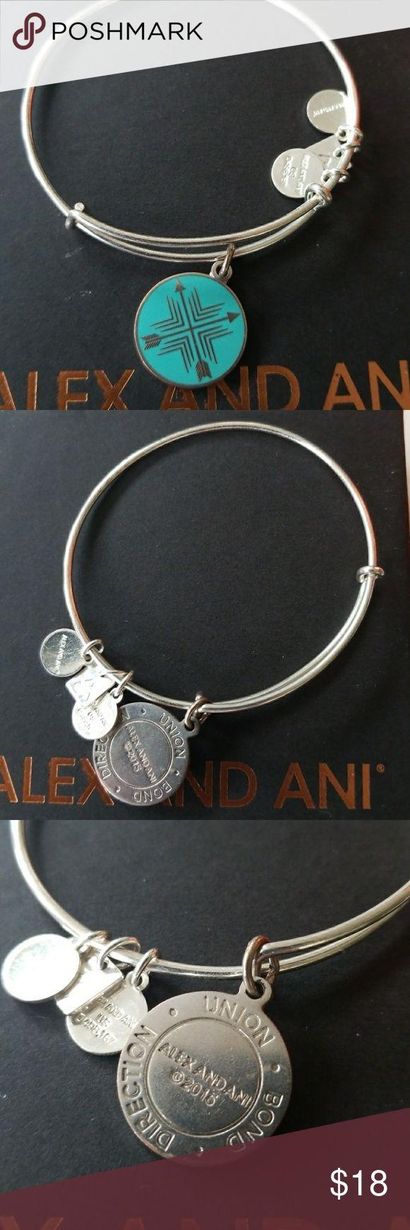 Arrows of friendship ALEX AND ANI bracelet silver some scratches from wear on bracelet and charms Alex & Ani Jewelry Bracelets