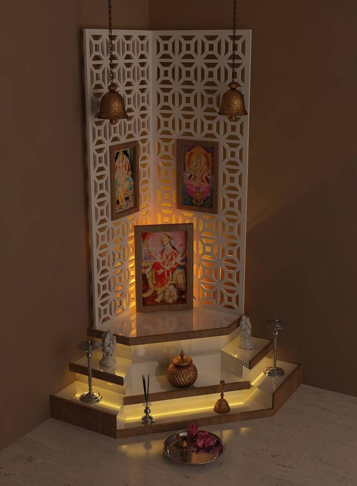 272 best Pooja Room Design images on Pinterest | Puja room ...