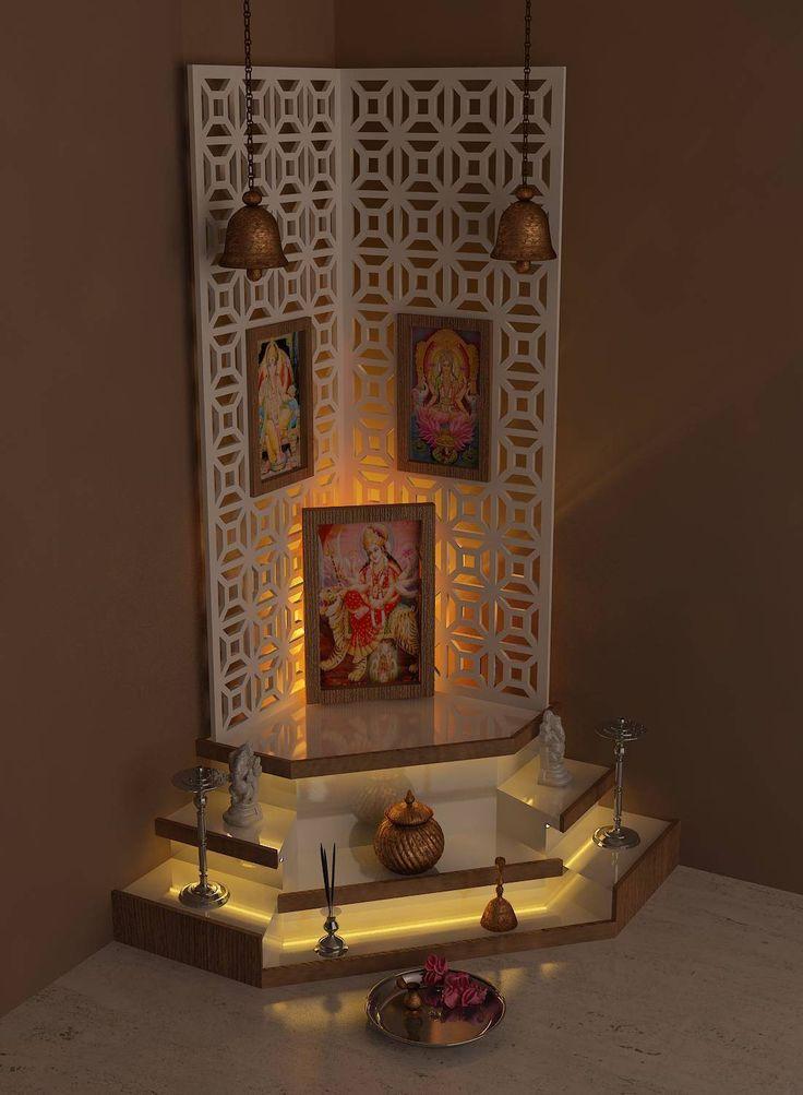 pooja room : by drashtikon designer consultant                              …