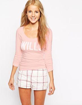 Jack Wills Logo Long Sleeve Top
