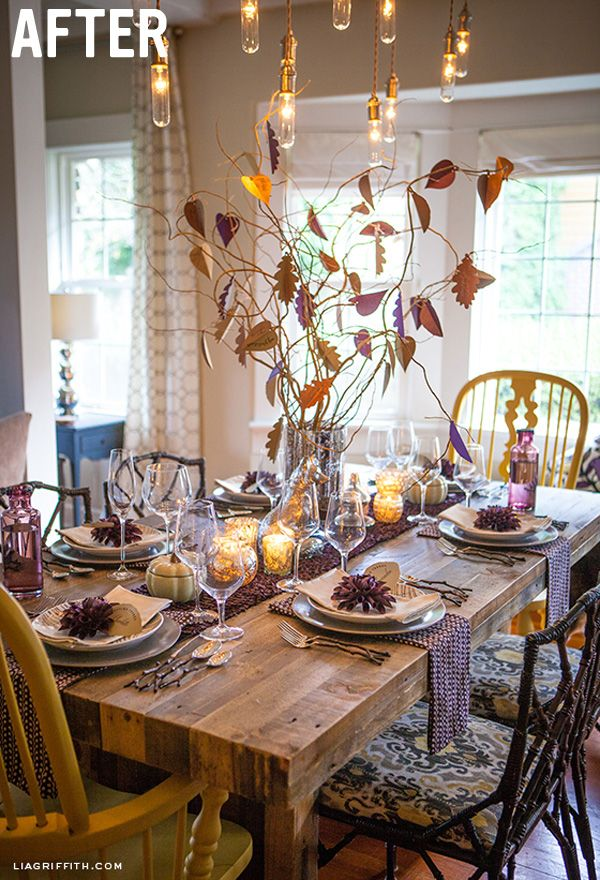 Emmerson west elm lia griffith dining room table set for for Dining room decorating ideas for thanksgiving