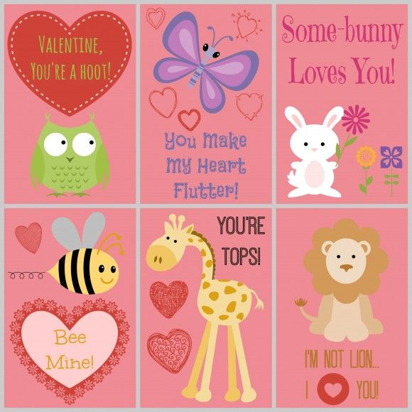 Free Cute Printable Valentines Day Cards