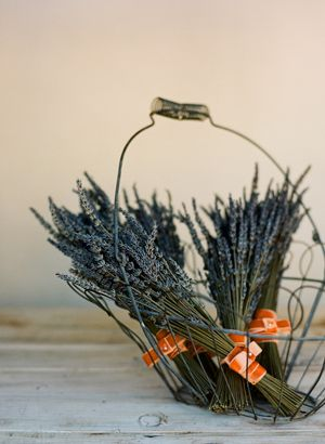 little bunches of lavender as bouquets/party favors Intimate Greek Garden Inspired Wedding