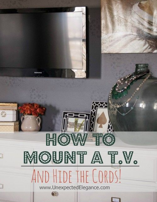 How to Hang a TV and Not See the Cords for less than $5!