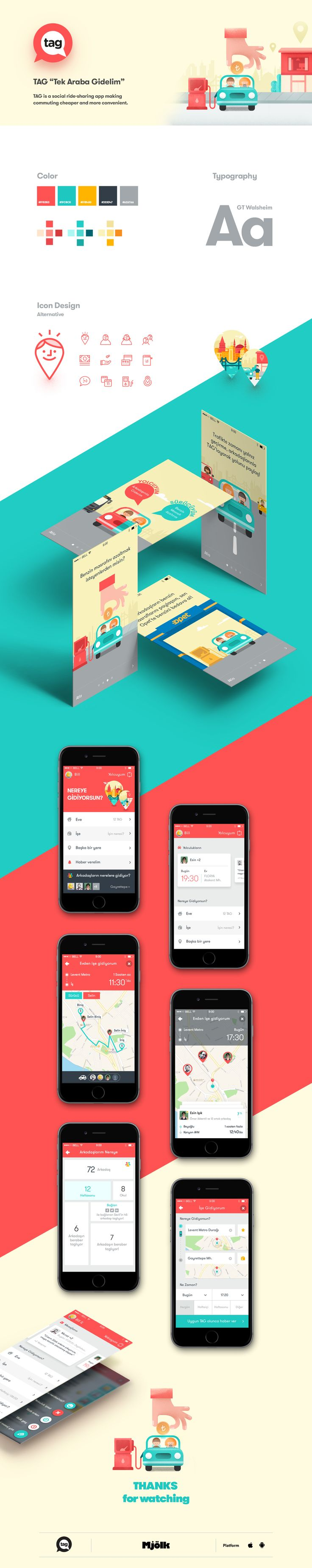 """TAG"" Mobile App UI Design on Behance"