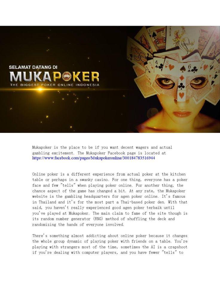 Mukapoker poker online indonesia  Mukapoker is Poker Online Indonesia betting Agent