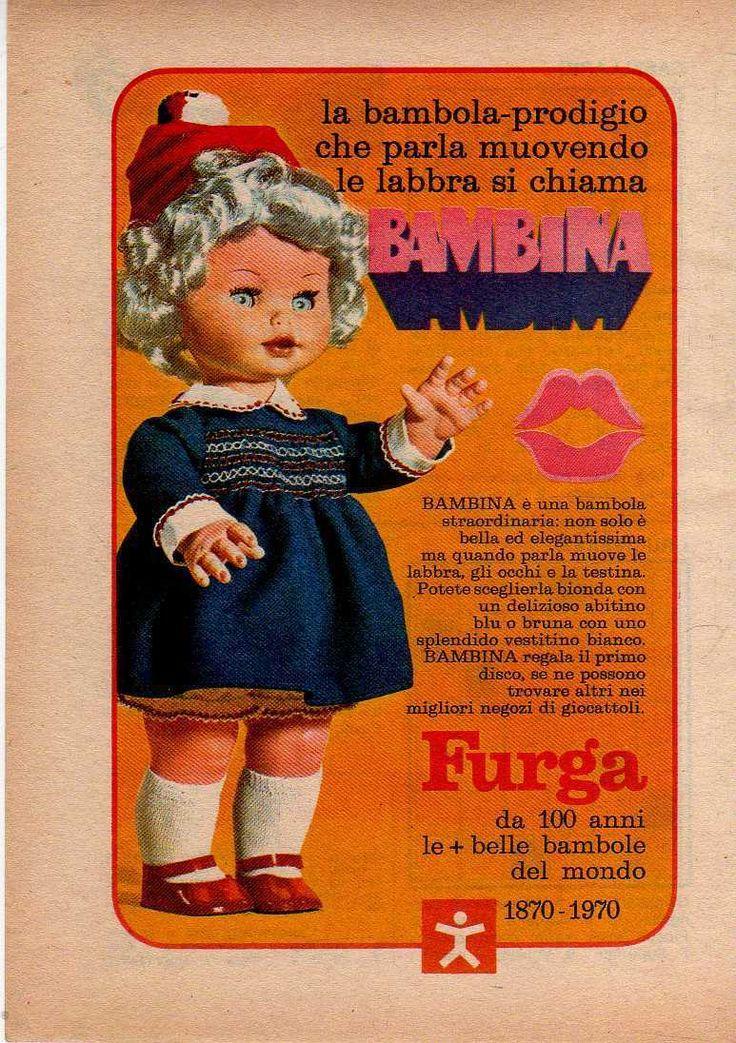 1970 Pubblicità Advertising  Bambola Bambina