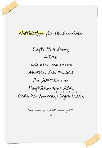 Notfalltipps für Hochsensible (Teil 1)