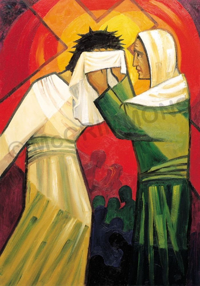 6. Veronica wipes the face of Jesus by The Benedictine Sisters of Turvey Abbey #Lent