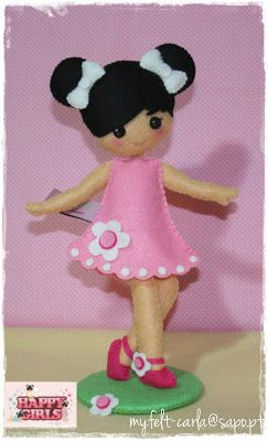 My Felt: Felt Doll SO Cute!