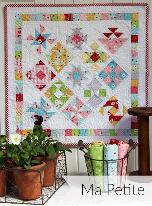 Threadbare Creations- Ma Petite Mini Quilt PDF Pattern