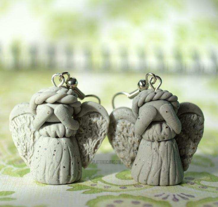 Doctor Who Weeping Angel Earrings.