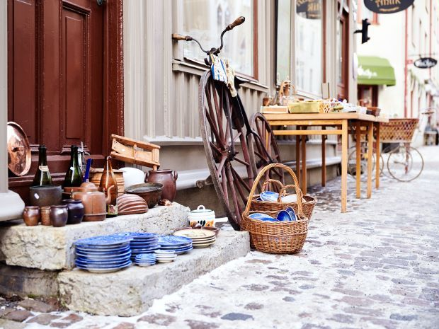 Vintage and second hand shopping is one of the reasons to visit Haga.