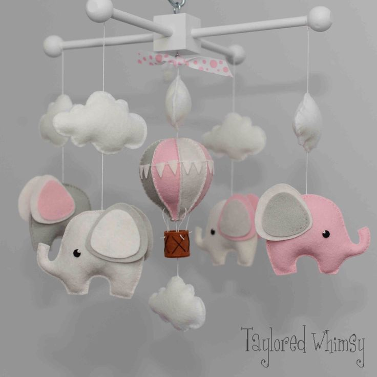 Elephant Mobile - Hot Air Balloon Mobile - Custom Mobile (not ready made) - Ships in 4-6 Weeks by TayloredWhimsy on Etsy https://www.etsy.com/listing/212897969/elephant-mobile-hot-air-balloon-mobile