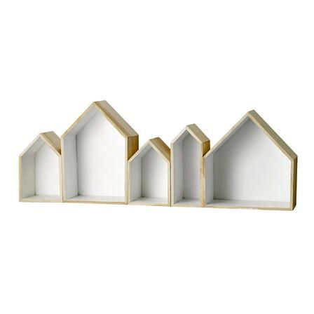 Bloomingville House Display Box, Natural/White
