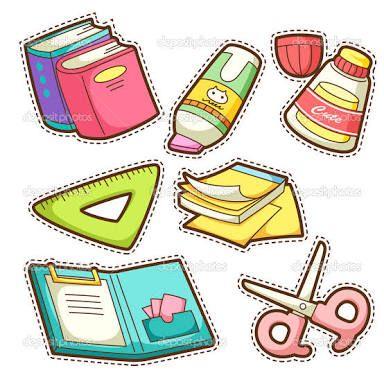 Resultado de imagen para dibujo de utiles escolares