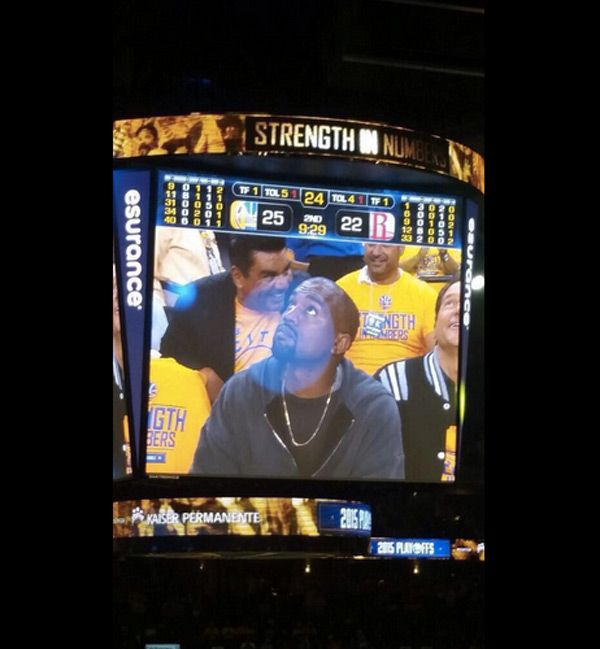Kanye West Gets Booed At A Warriors Basketball Game