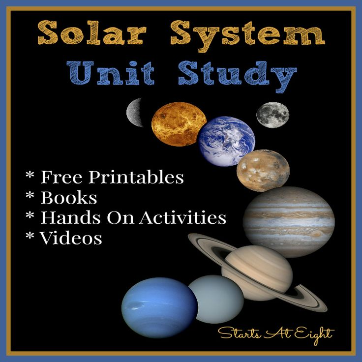 Solar System Unit Study - A science unit for elementary and middle school students that includes videos, books, printables & activities.