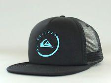 New Auth Quiksilver Everyday Eclipse Trucker Hat Snapback Golf Cap Surf OSFA Blk