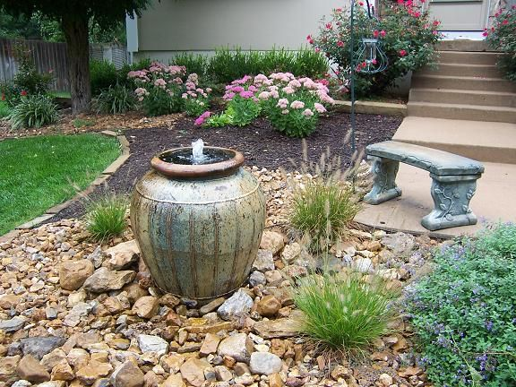 This fountain can be put in even the smallest of spaces and makes a lovely focal point.  Depending on large of an urn and pump you use, the noise should be enough to provide relaxing 'white noise' and yet soft enough to encourage relaxation.