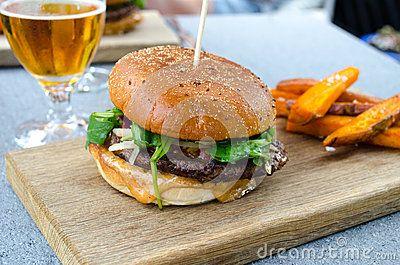 #beer #hamburger #food