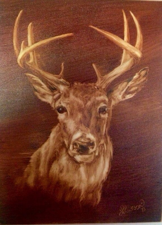 Buck White Tail Deer Original Oil Painting 18x By