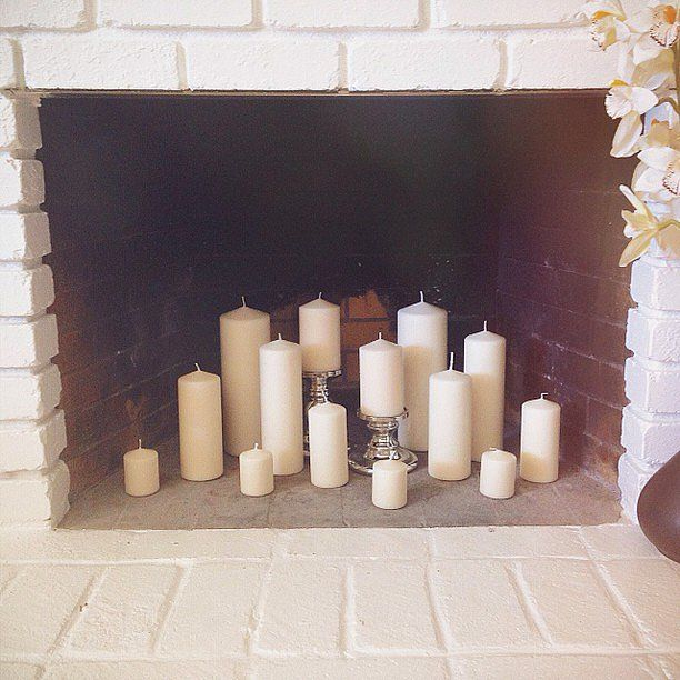17 Best Ideas About Candles In Fireplace On Pinterest Fireplace With Candles Fire Place Decor