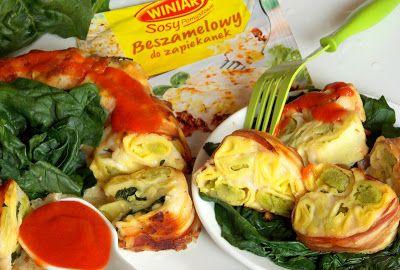 Zakamarki mojej kuchni: Tortellini ze szpinakiem zapiekane w beszamelu