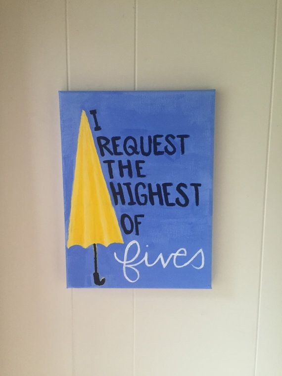 """""""I Request the Highest of Fives"""" Yellow Umbrella Painting 