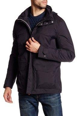 Hooded Funnel Neck Jacket