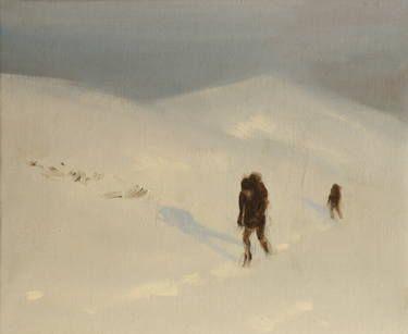 "Saatchi Art Artist Marta Zamarska; Painting, ""Winter Impression 4"" #art"