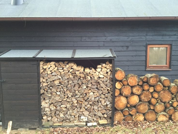 shed and firewood storage