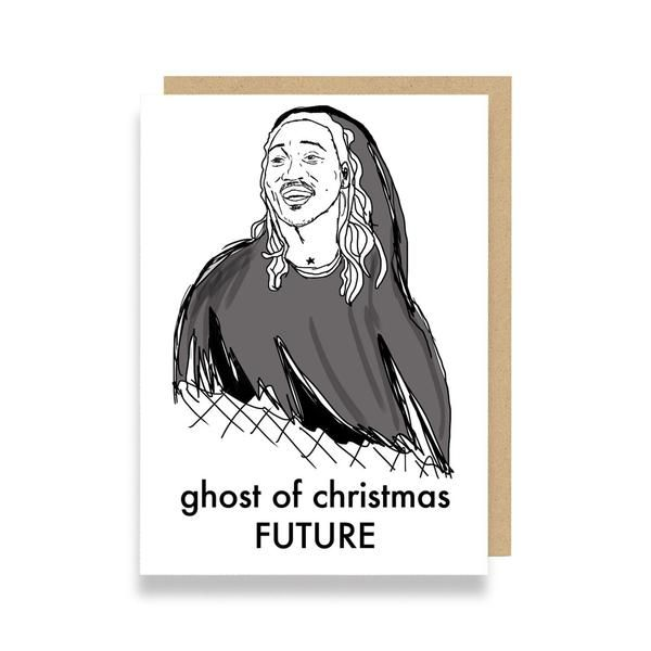 Funny Christmas card featuring Future