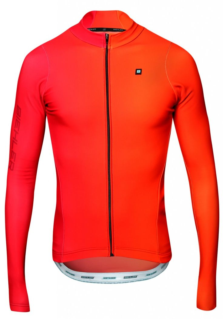 Men Thermal Rain L/Sleeve Jersey Farbwechsel red | Biehler Cycling Wear - Online Shop
