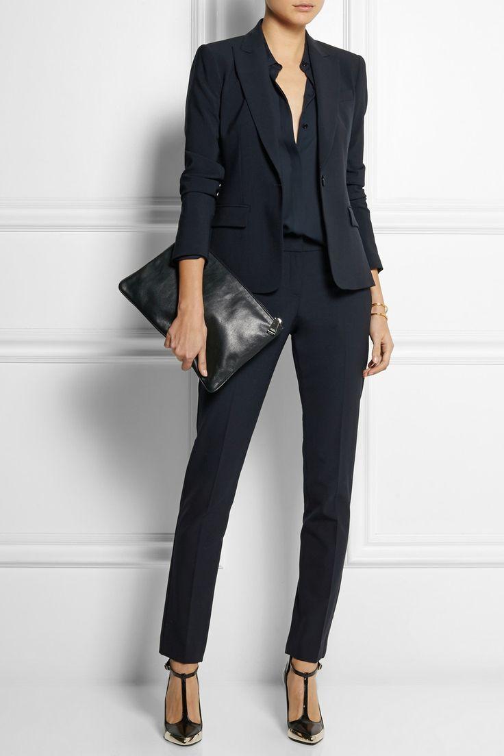 Theory|Stretch-crepe blazer|NET-A-PORTER.COM