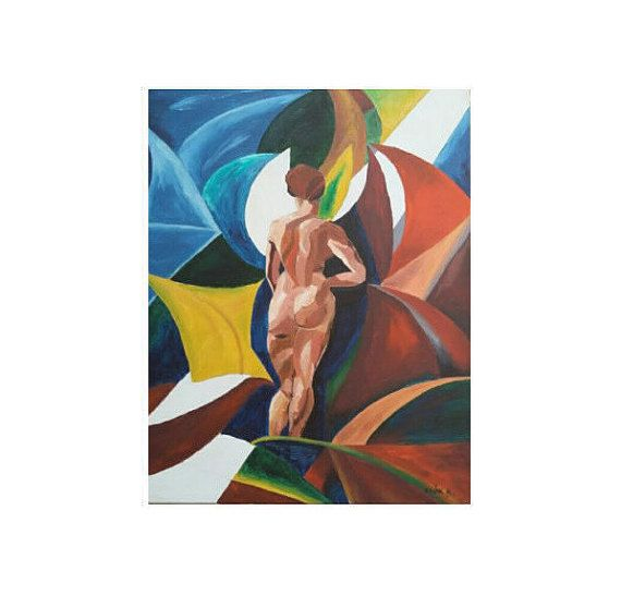 ORIGINAL OIL PAINTING Woman Nude Figure Painting oIL by MarikaArt