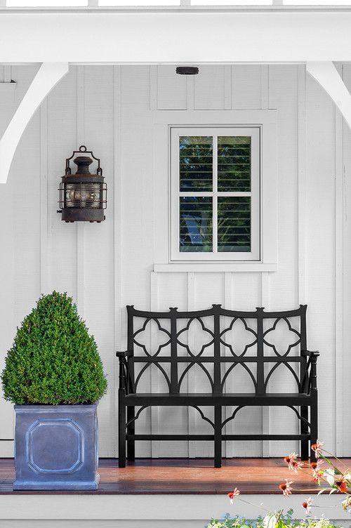 bench and lantern