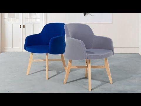 Fauteuil en tissu-Gris-Chaise design- Ystad