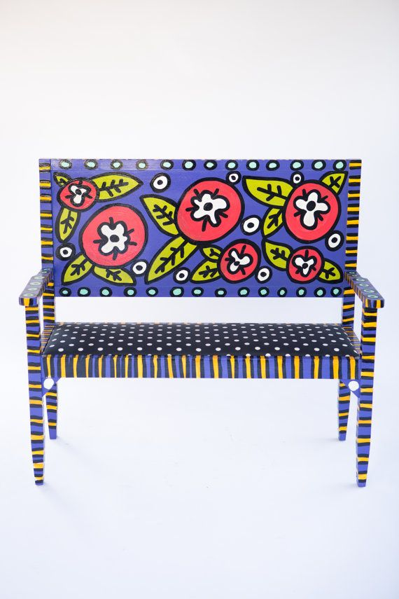Hey, I found this really awesome Etsy listing at https://www.etsy.com/listing/202261685/hand-built-hand-painted-adult-bench