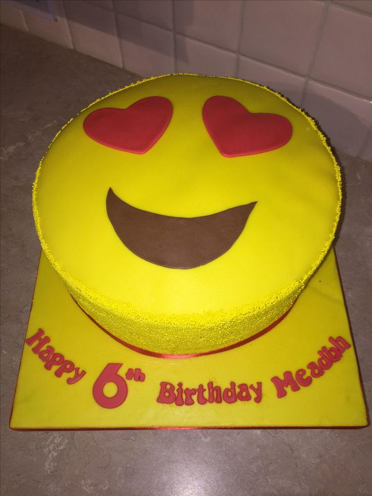 Heart Eyes Emoji Cake Children S Birthday Cakes Emoji