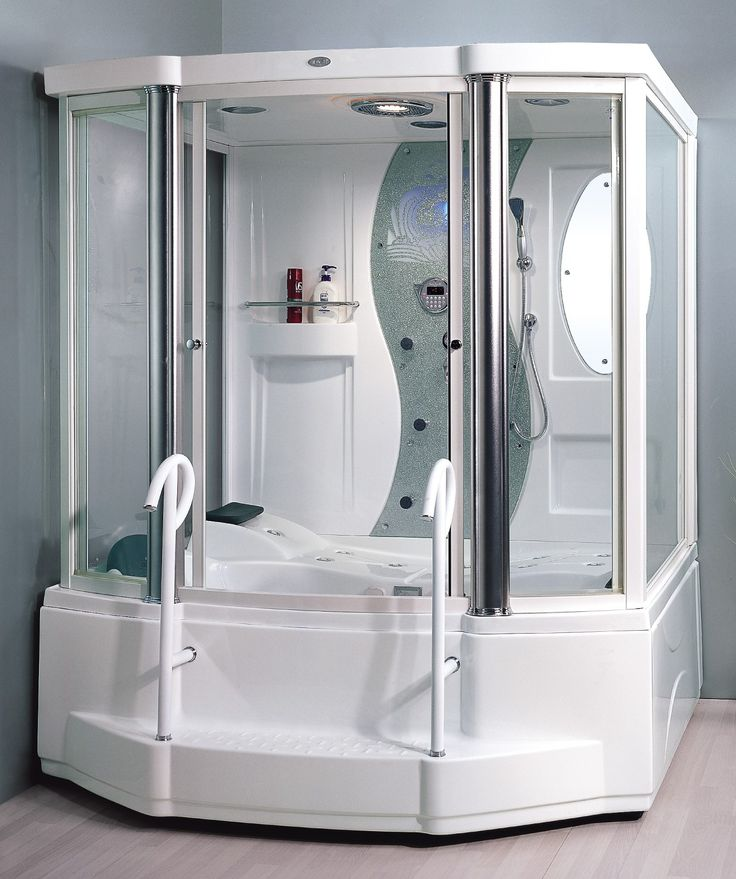 STEAM SHOWER ENCLOSURE FOR 2 PERSONS WHIRLPOOL MASSAGE TUB WITH 6 JETS PLUS HYDRO JETS AND
