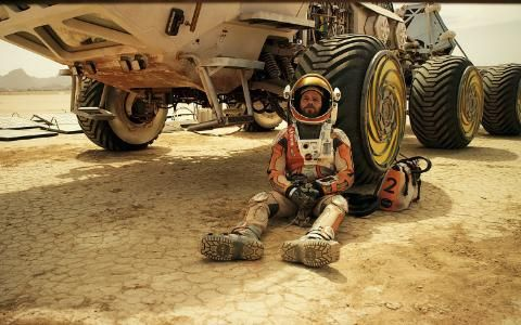 A still with Matt Damon in The Martian