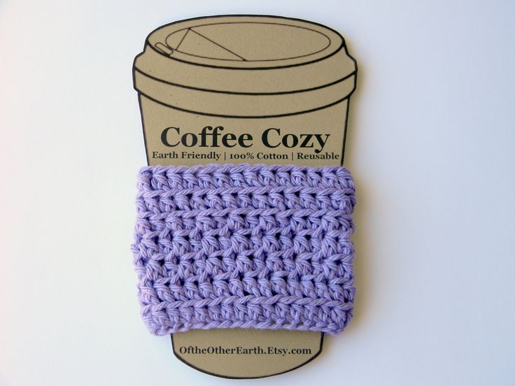 OftheOtherEarth — Coffee Cup Sleeve Pattern By; OftheOtherEarth 5 mm...
