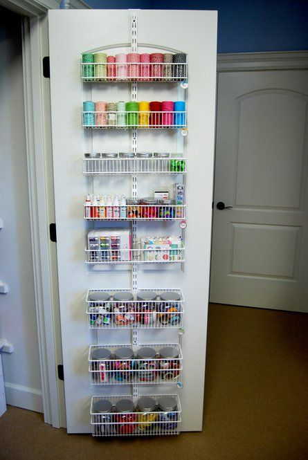 For The Inside Of My Closet Doors I Use Elfa Pantry Door Storage System  From The