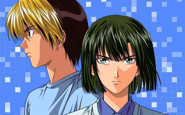 Download wallpapers Hikaru no Go, Akira Touya, Hikaru Shindou, Japanese manga, main characters