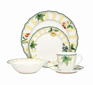 Noritake Orchard Valley casual dinner set. www.noritake.com.au