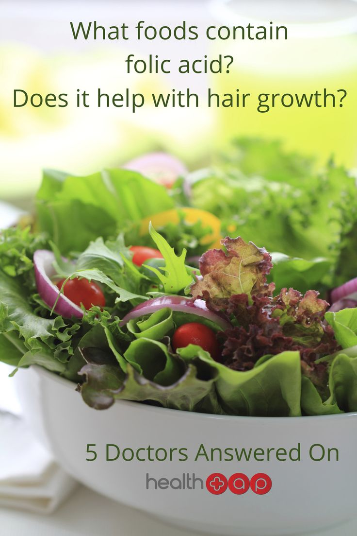Does folic acid really help your hair grow?  Click to find out what foods contain it!