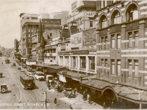 Liverpool Street, Sydney, New South Wales, Australia 1920s