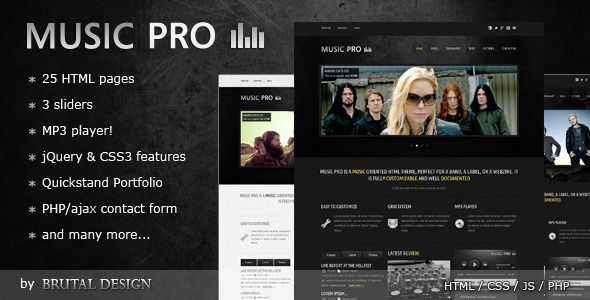 Review Music Pro - Music Oriented HTML Templateso please read the important details before your purchasing anyway here is the best buy