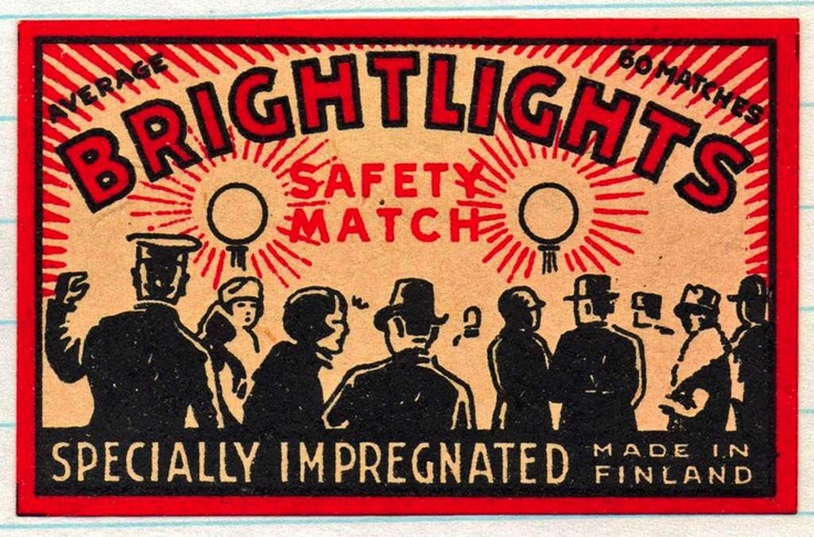 Matchbox Label from the 30s
